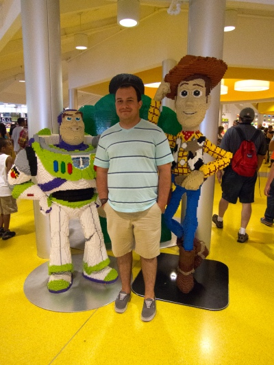 Cason with Buzz and Woody, lego style
