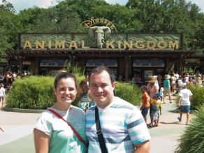 Together in front of the Animal Kingdom
