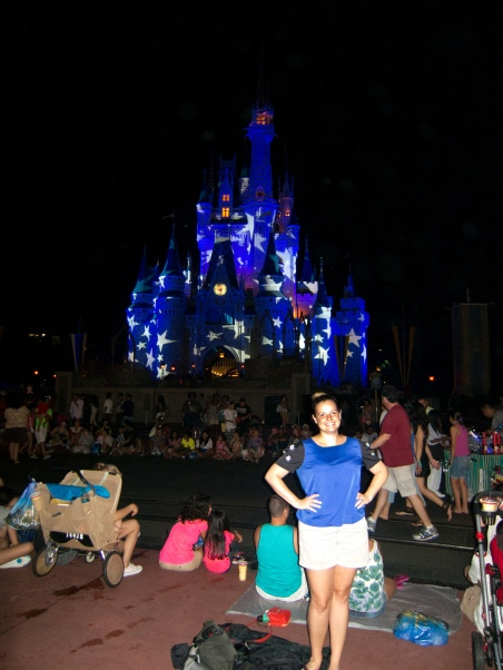 Me in front of the castle