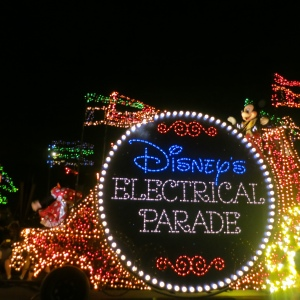 Commence photos of Disney's Electrical Parade.