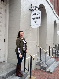Me with the Ford's Theatre sign