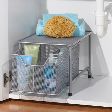 """Though they aren't the prettiest, these cabinet drawers will certainly help me guide Cason to the item he's hunting. """"It's the second drawer from the left, honey!"""" http://www.bedbathandbeyond.com/store/product/simple-solutions-reg-cabinet-drawer/120640?skuId=16722588&registryId=10741783"""