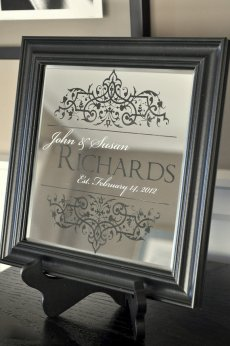 Decorative mirror to highlight our family name! This item can be found on our Etsy registry: http://www.etsy.com/registry/MTYwNjk3Mnw3OTAxNzc1/